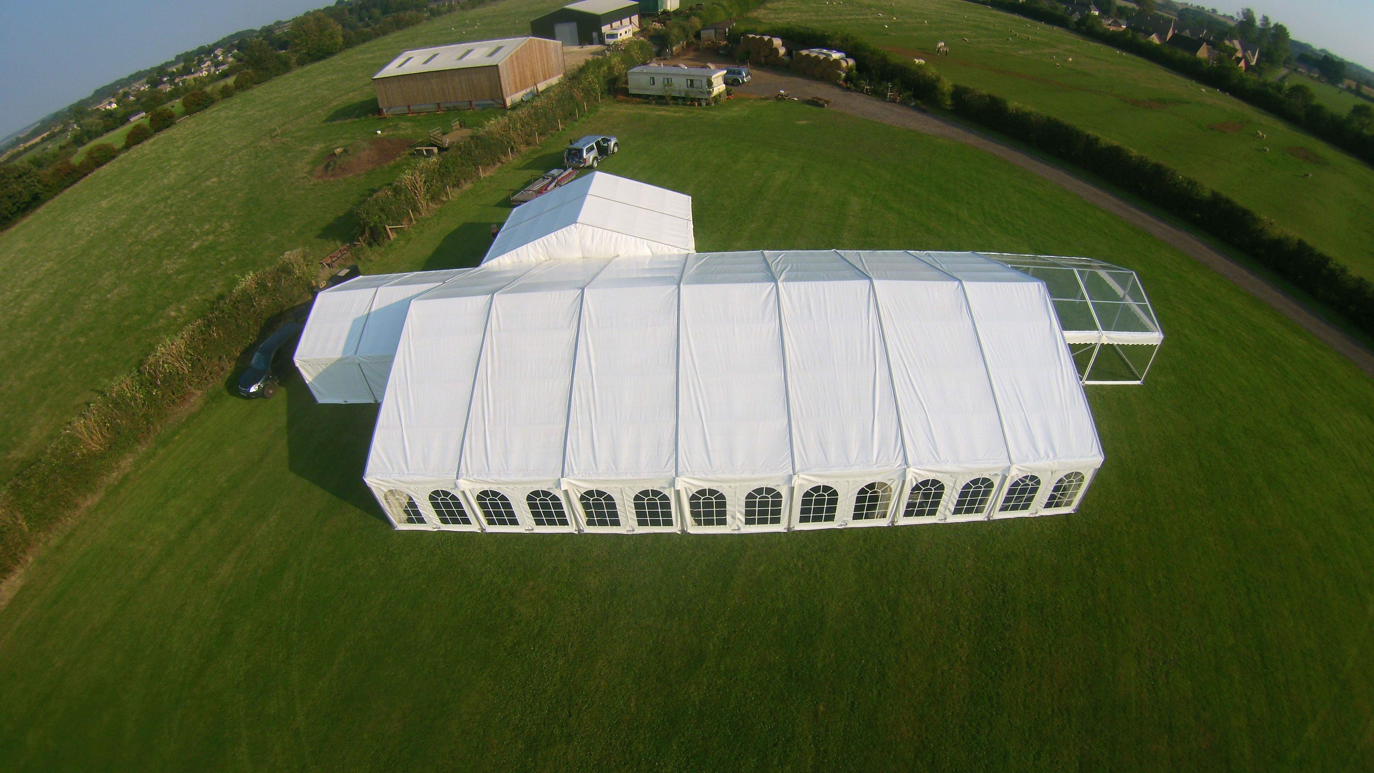 Wedding Marquee aerial view