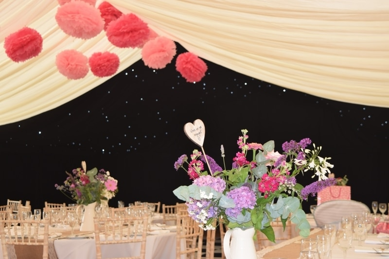 Wedding Marquee Ivory Linings in Tackley