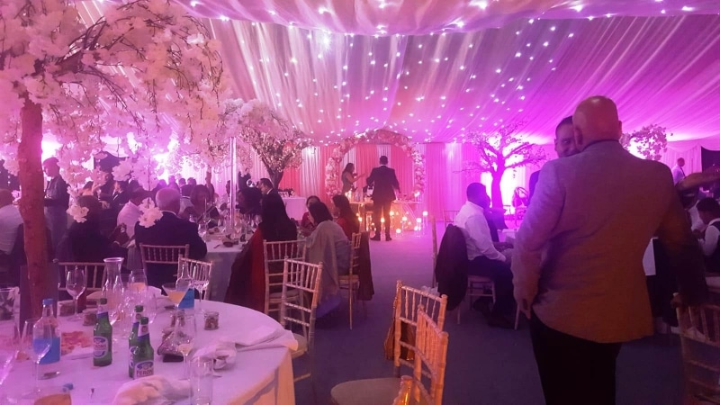 Indian Wedding Marquee with Ivory star light linings