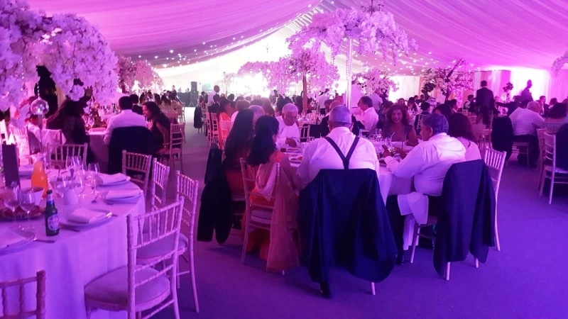 Indian Wedding Marquee interior