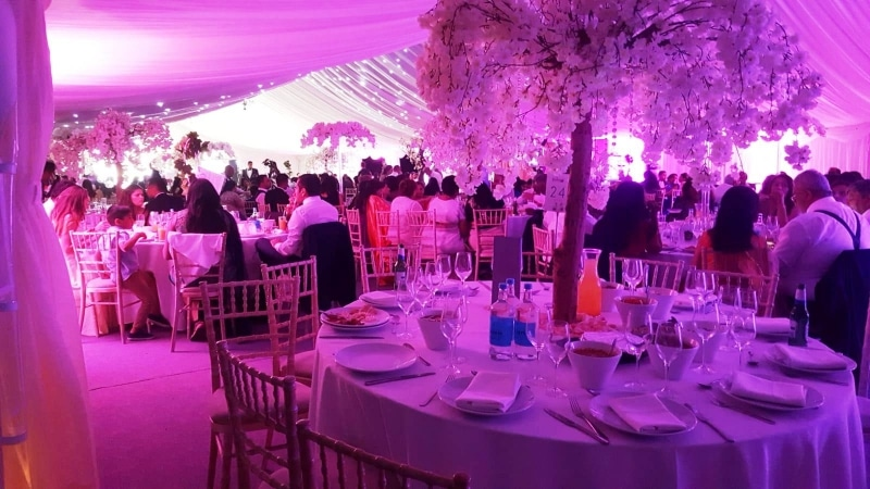 Wedding Marquee furniture and Lighting