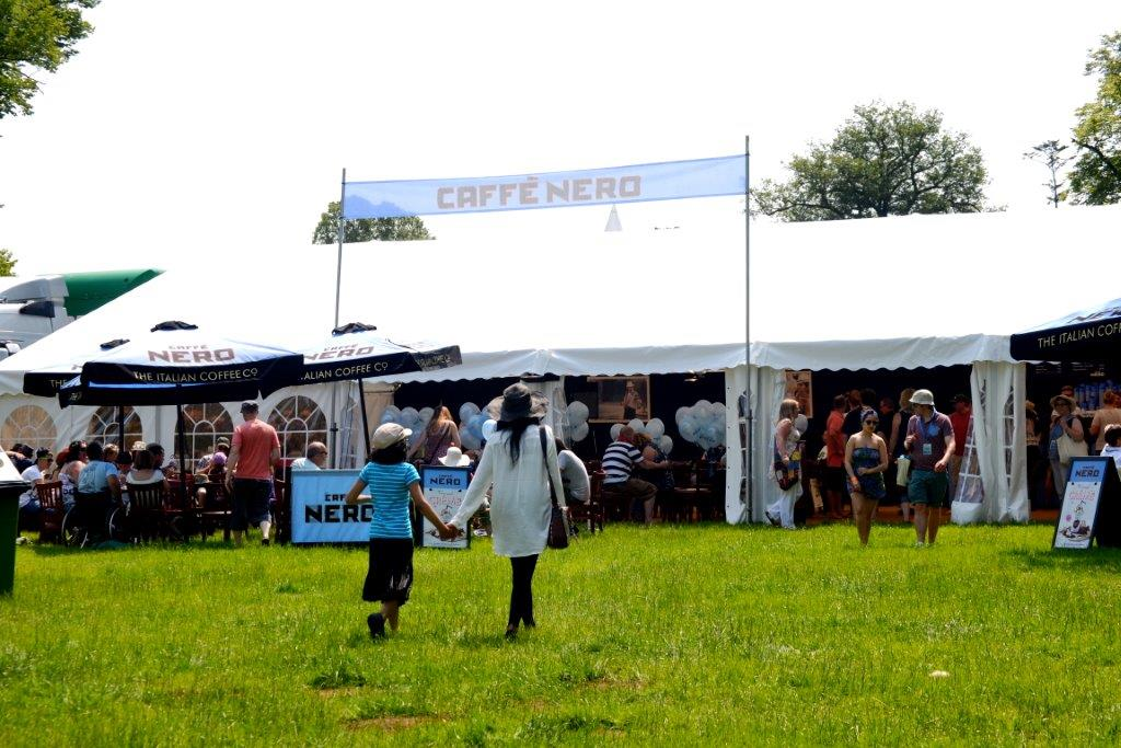 Corporate Event Marquee at Cornbury for 'Caffe Nero'