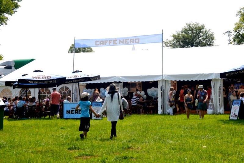 Corporate Event Marquee at Cornbury for 'Caffe Nero'