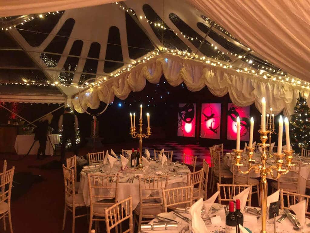 corporate marquee lighting in tricone