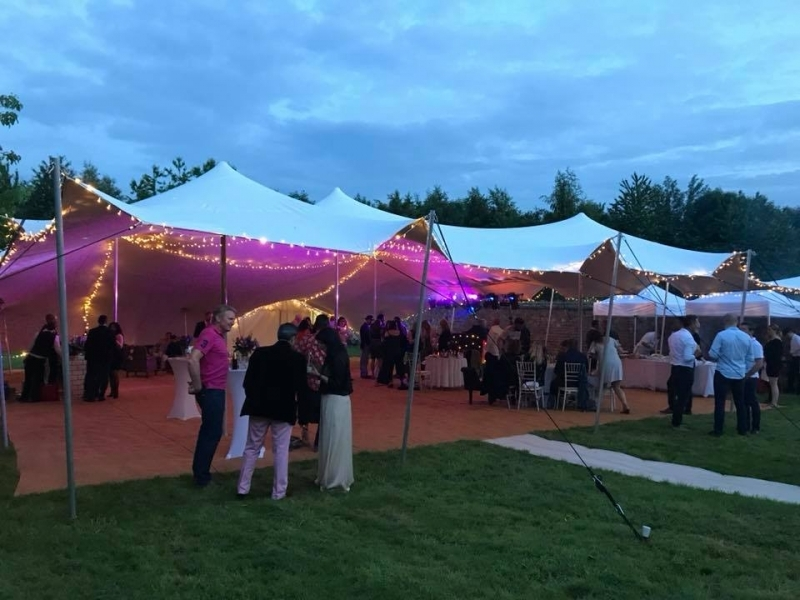 Party Stretch tent for a corporate Event