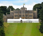 Wedding marquee set up at Rousham House