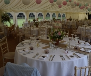 Marquee interior in Oxfordshire