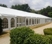 Wedding Marquee hire at Weston Manor