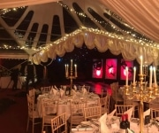 Corporate event marquee with tricone