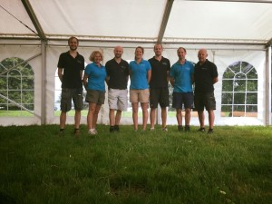 Marquee hire Oxfordshire Family team photo