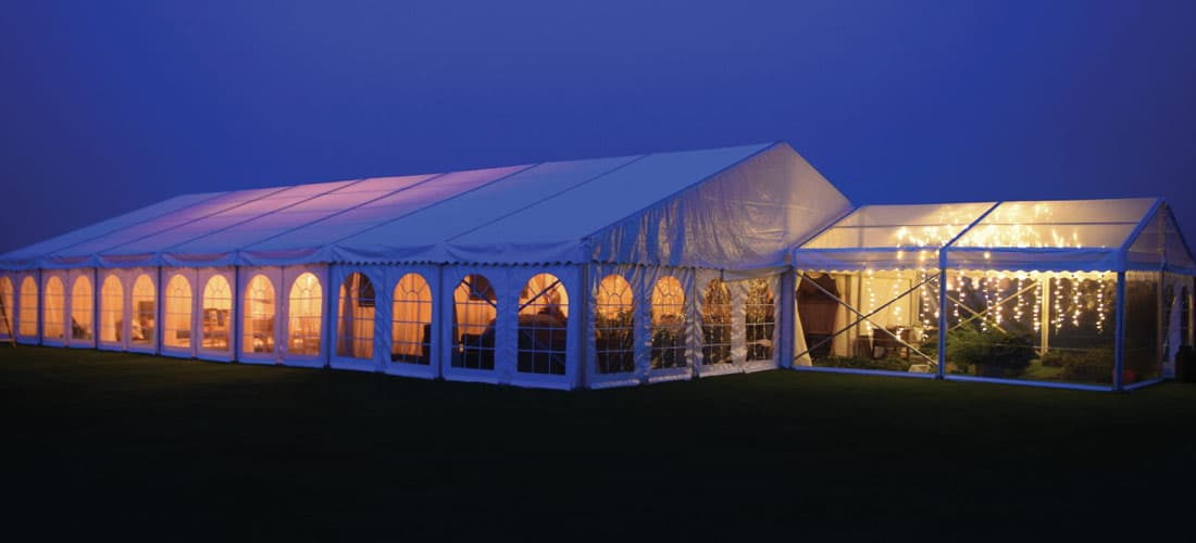 About J&L Marquees - marquee at night