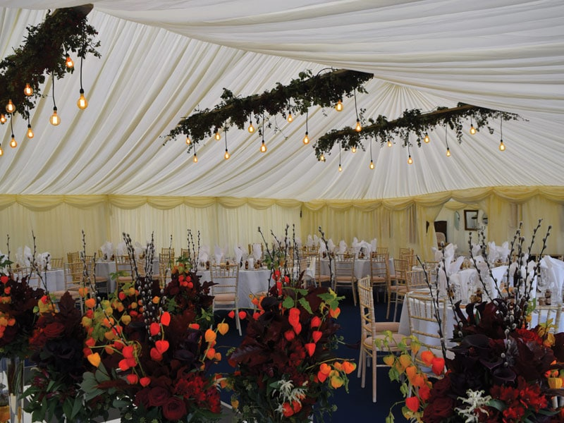 Luxury Wedding Marquee hire Oxfordshire