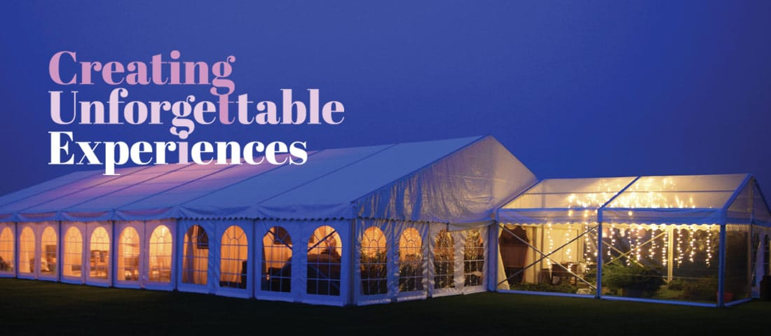 Marquee Wedding hire experience
