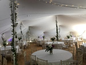 Wedding Stretch Tent lighting