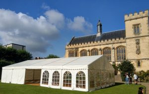 Marquee hire Oxford University Pembroke College Event